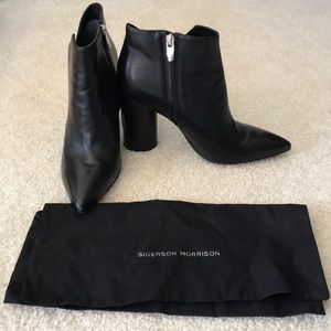Sigerson Morrison black booties size 9.5 worn once